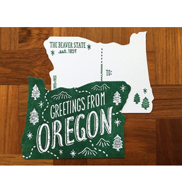 Postcards Oregon Die Cut Postcard