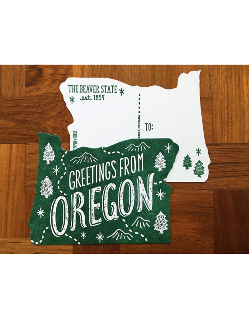 Postcards Oregon Die Cut Postcard