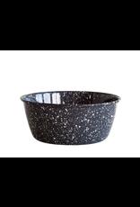 Enamelware Grey Splatterware Bowl