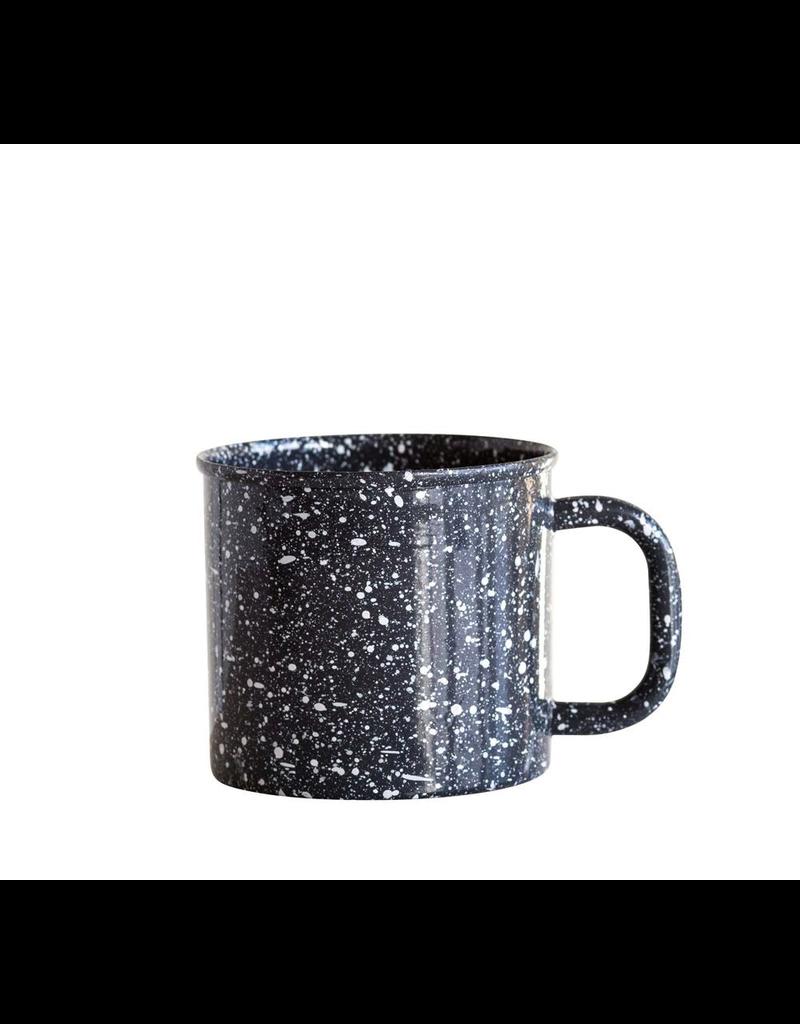 Enamelware Grey Splatterware Mug