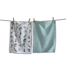 Tea Towels Frisky Cats Tea Towels