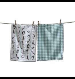 Tea Towels Frisky Cats Tea Towels