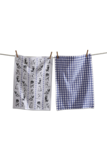 Tea Towels Playful Dogs Tea Towels