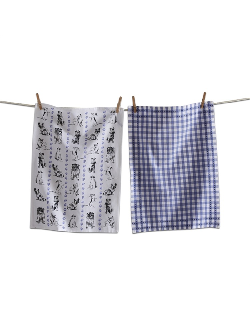Tea Towels Playful Dogs Tea Towels
