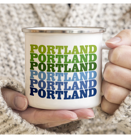 Enamelware Portland Supergraphic Enamel Mug