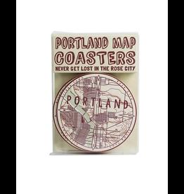Coasters Portland Map Coasters