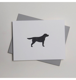 Greeting Cards - General Black Labrador Letterpress Notecard