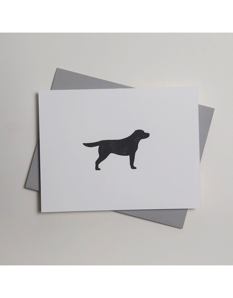 Greeting Cards - General Black Labrador Letterpress Notecard