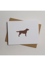 Greeting Cards - General Chocolate Labrador Letterpress Notecard