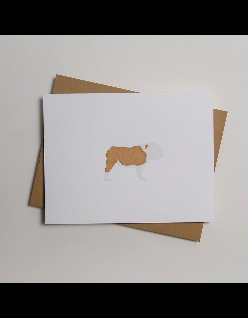 Greeting Cards - General Bull Dog Letterpress Notecard