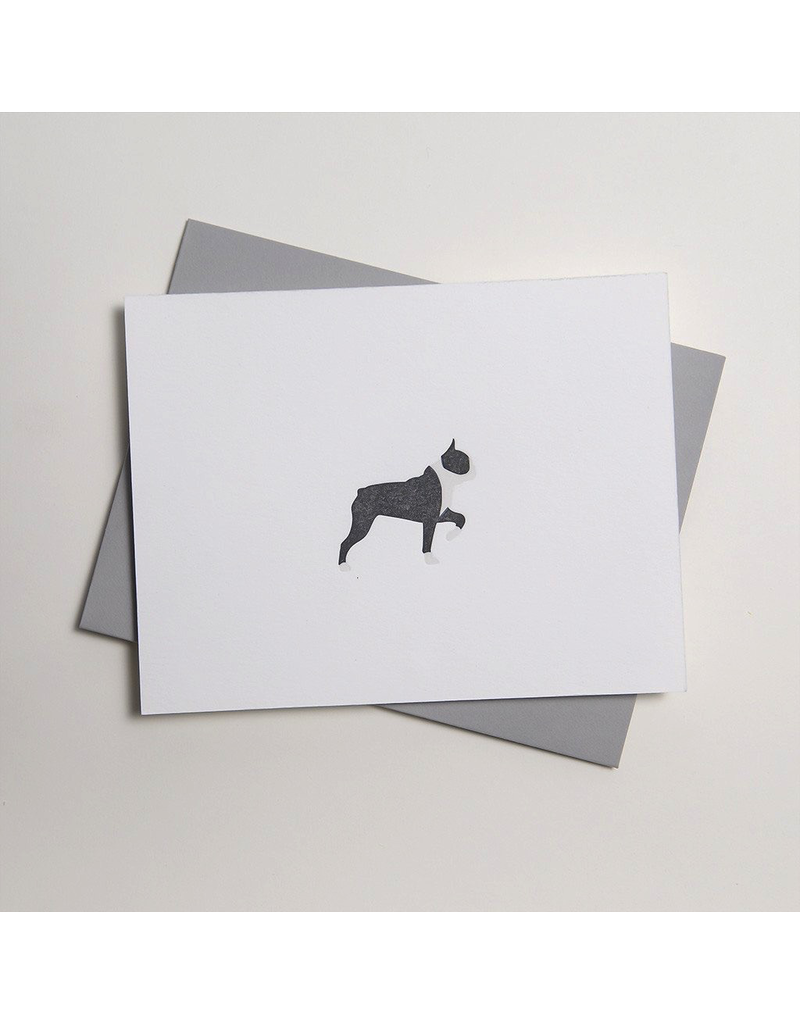 Greeting Cards - General Boston Terrier Letterpress Notecard