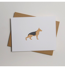 Greeting Cards - General German Shephard Letterpress Notecard