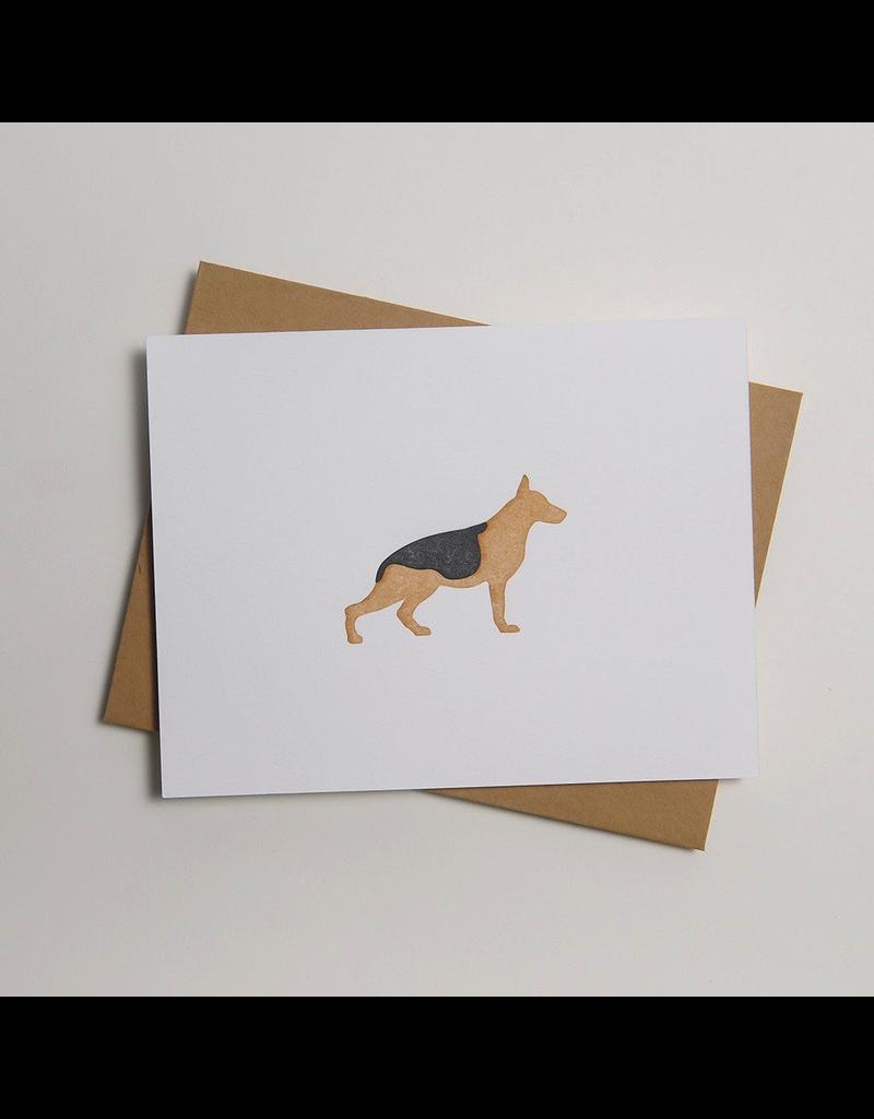 Greeting Cards - General German Shephard Letterpress Notecard