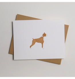 Greeting Cards - General Boxer Letterpress Notecard
