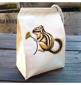Lunch Bags - Canvas Chipmunk Lunch Bag