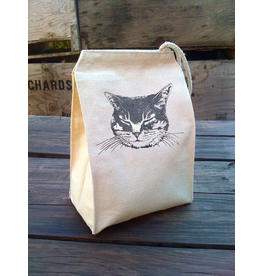 Lunch Bags - Canvas Cat Lunch Bag