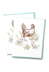 Greeting Cards - General Chicken With Chicks Greeting Card