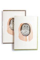 Greeting Cards - General Owl Snug In A Tree Greeting Card