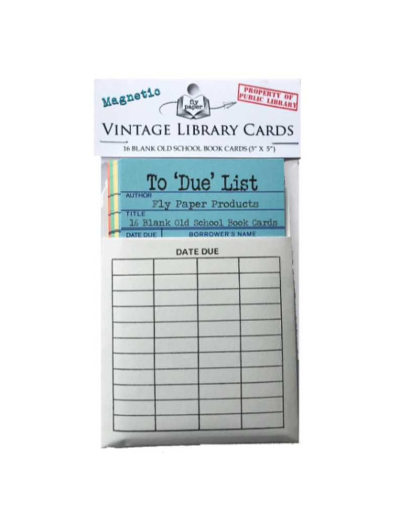 Paper Disposable Magnetic Library Memo Cards