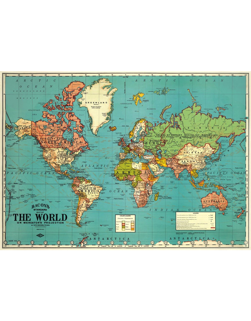 Gift Wrap World Map Wrap
