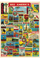 Gift Wrap See America Collage Wrap
