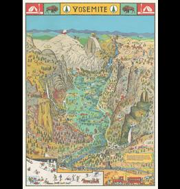 Gift Wrap Yosemite Park Map Wrap