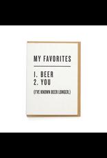 Greeting Cards - Love Favorites: Beer & You Greeting Card