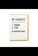 Favorites: Books & You Greeting Card