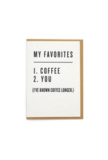 Greeting Cards - Love Favorites: Coffee & You Greeting Card