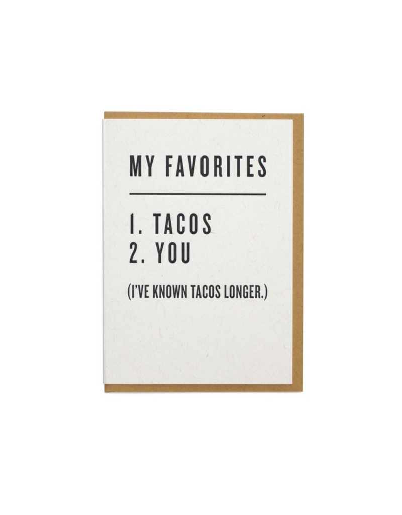 Greeting Cards - Love Favorites: Tacos & You Greeting Card