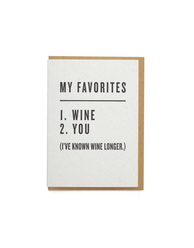 Greeting Cards - Love Favorites: Wine & You Greeting Card
