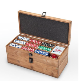 Games Poker & Liquor Gift Box