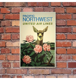 Prints Pacific Northwest Airline 11x14 Poster