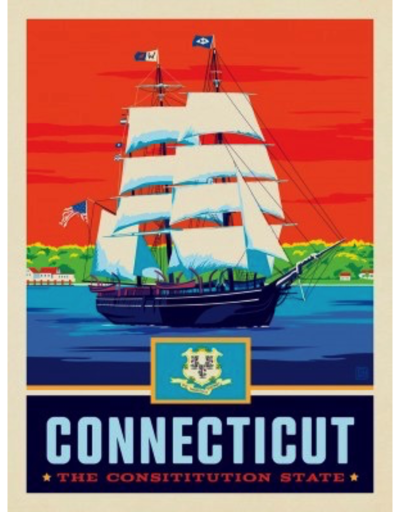 Posters Connecticut State Pride 11x14 Print