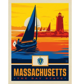 Posters Massachusetts State Pride 11x14 Print