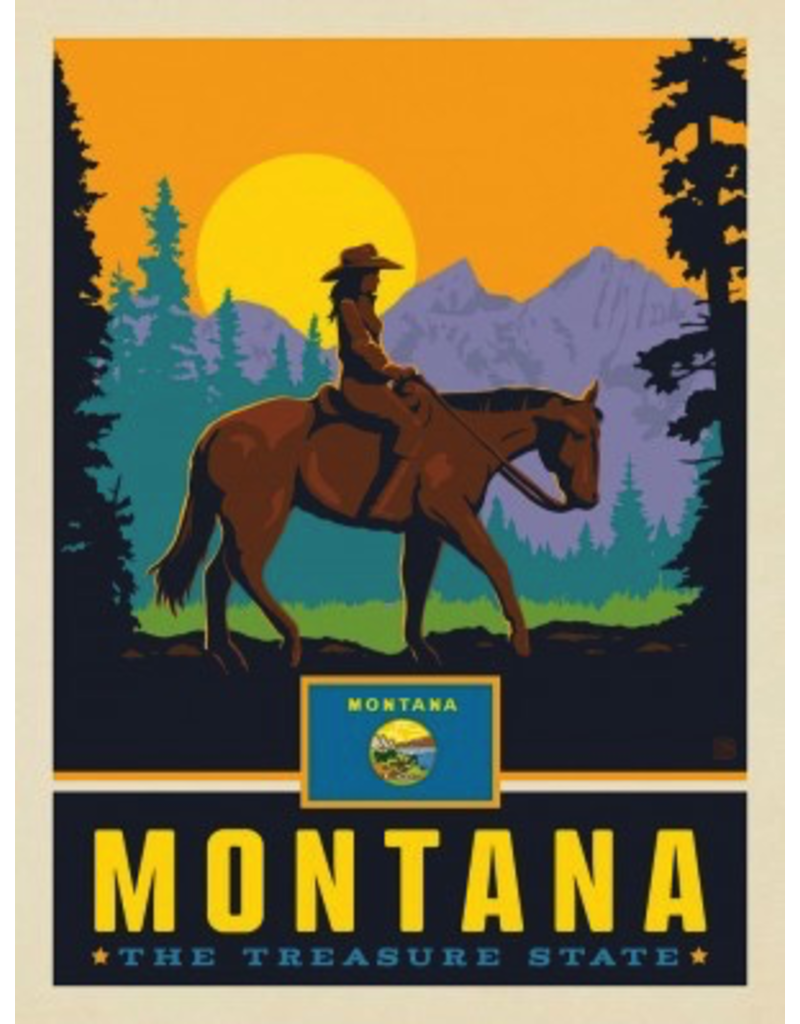 Posters Montana State Pride 11x14 Print