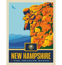 Posters New Hampshire State Pride 11x14 Print
