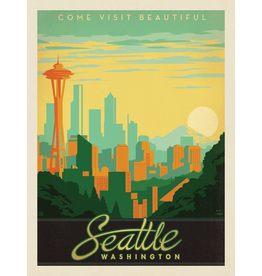 Prints Seattle Skyline 11x14 Print
