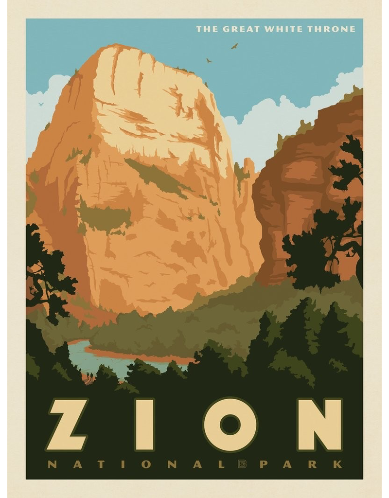 Prints Zion National Park Great White Throne 11x14 Print