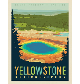 Prints Yellowstone National Park Grand Prismatic Springs 11x14 Print