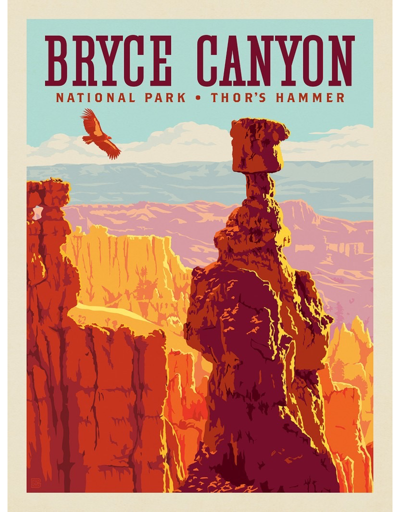 Posters Bryce Canyon National Park Thor's Hammer 18x24 Poster