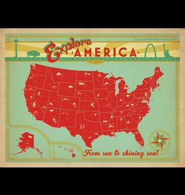 Prints Explore America 24x18 Poster