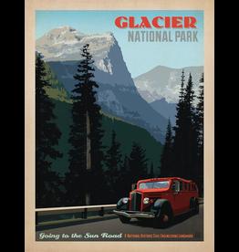 Prints Glacier National Park Sun Road 18x24 Poster