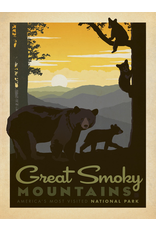 Prints Great Smoky Mountains National Park Bears 18x24 Poster