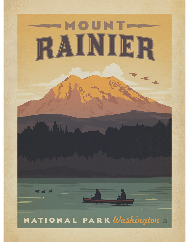 Prints Mount Rainier National Park 18x24 Poster
