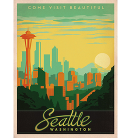 Prints Seattle Skyline 18x24 Poster