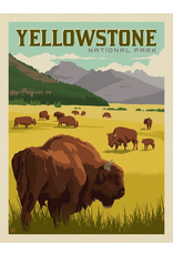 Prints Yellowstone National Park Bison Herd 18x24 Poster