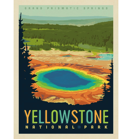 Prints Yellowstone National Park Grand Prismatic Springs 18x24 Poster