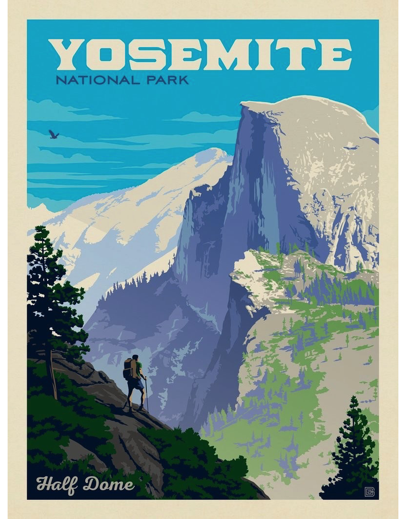 Prints Yosemite National Park Half Dome Vista 18x24 Poster