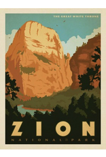 Prints Zion National Park Great White Throne 18x24 Poster
